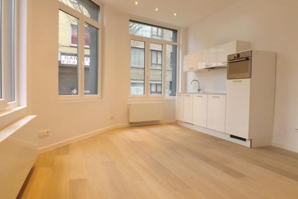 Gerenoveerd gelijkvloers appartement in mooi herenhuis